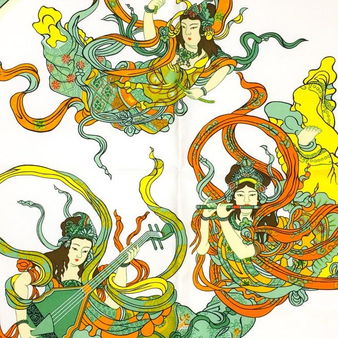 Hermes Silk Scarf Nikko-9