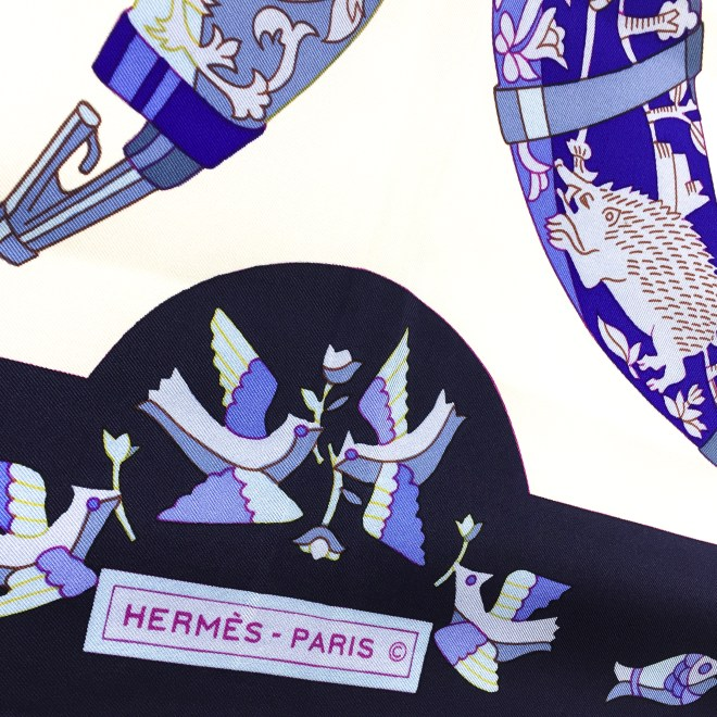 Hermes Silk Scarf Rhytons GRAIL-4