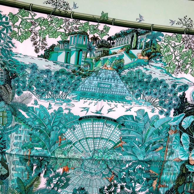 Jardins d'Hiver Hermes Silk Scarf NIB-5