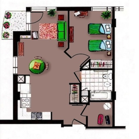 Appartement 3 12  Carrefour Rosemont