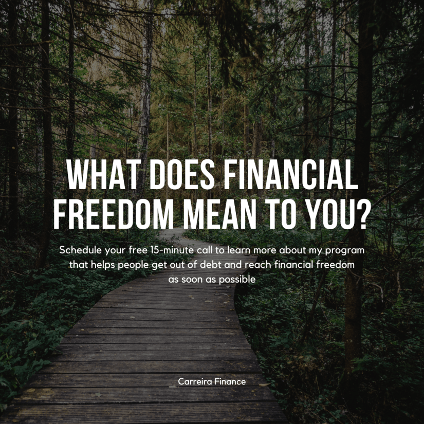 Financial Freedom - Carreira Finance Coaching