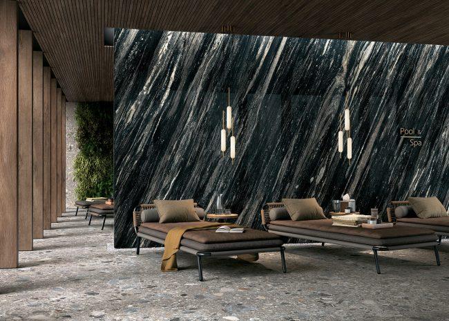 marbre noir carrelage sol et mur 2