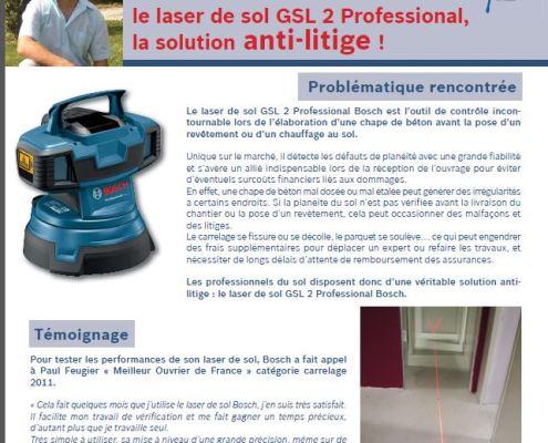 Paul Feugier carreleur meilleur ouvrier de France cité en tant qu'expert par Bosch outillage