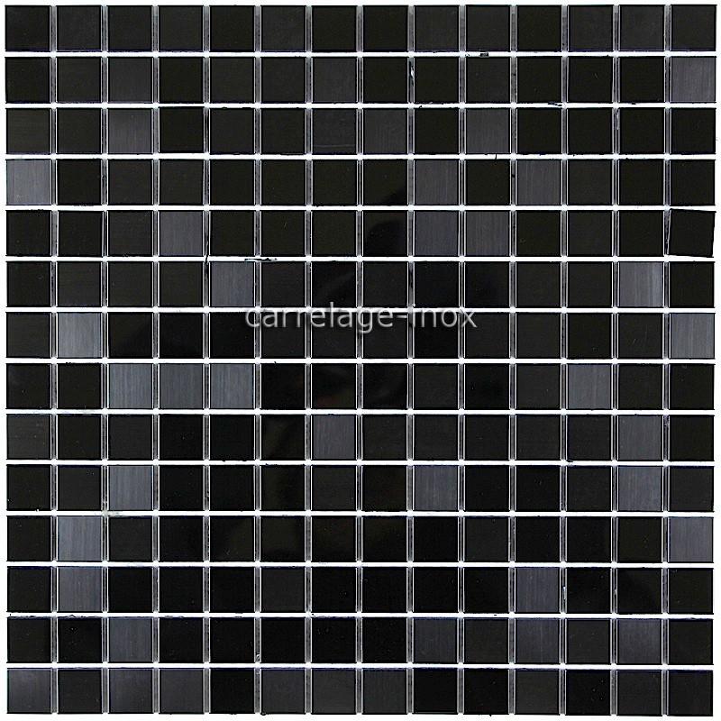 Carrelage Inox Mosaique Inox Credence Faience MIROIR NOIR MIX