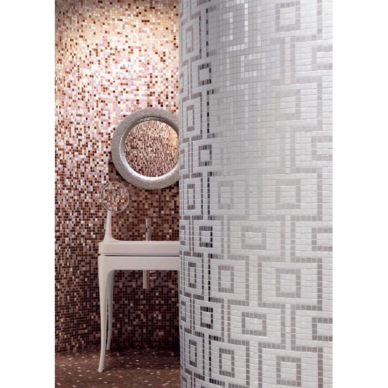 mosaque douche pte de verre salle de bain art hermes
