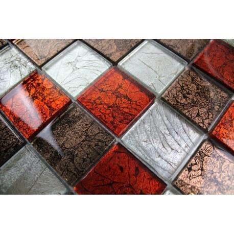 Carrelage Mosaique Pas Cher Mur Cuisine Et Salle De Bain 1m Lux Rouge Carrelage Inox Fr