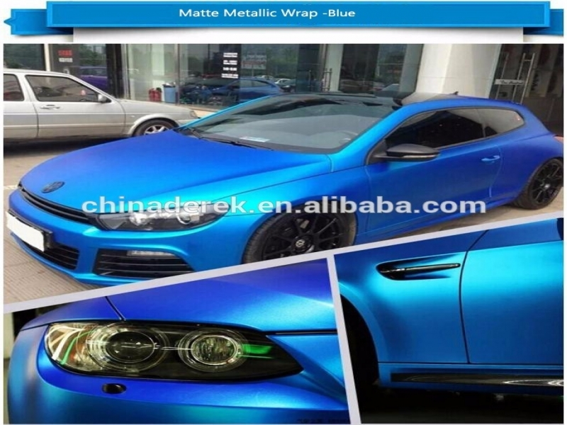 CES 2016 Car Audio Car Accessories Metallic Ice Blue Matte Vinyl Wrapping Air Release