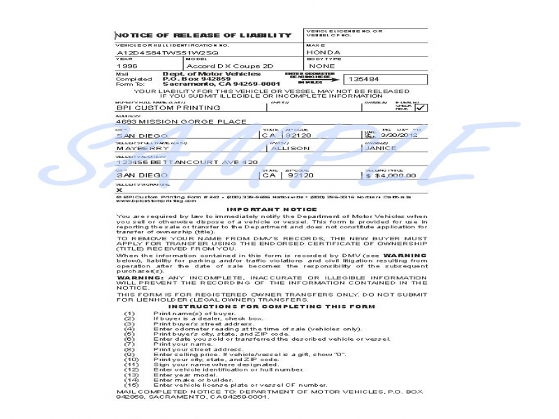 Generic Release Of Liability Form Printerformsbiz Sample E Forms