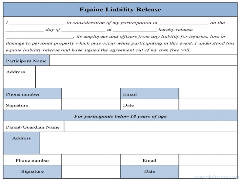 Release Of Liability Form Liability Release Form 6 Ways To Ruin A Perfectly Good Resume Ideas