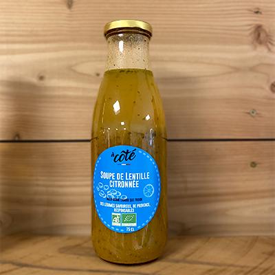 Soupe lentille citronnée