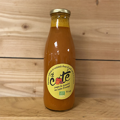 Soupe de Tomate Potimarron au zeste d'orange
