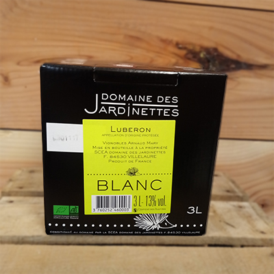 Bib 3l Jardinettes Blanc