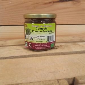 Compote pomme pruneaux bio 350 gr