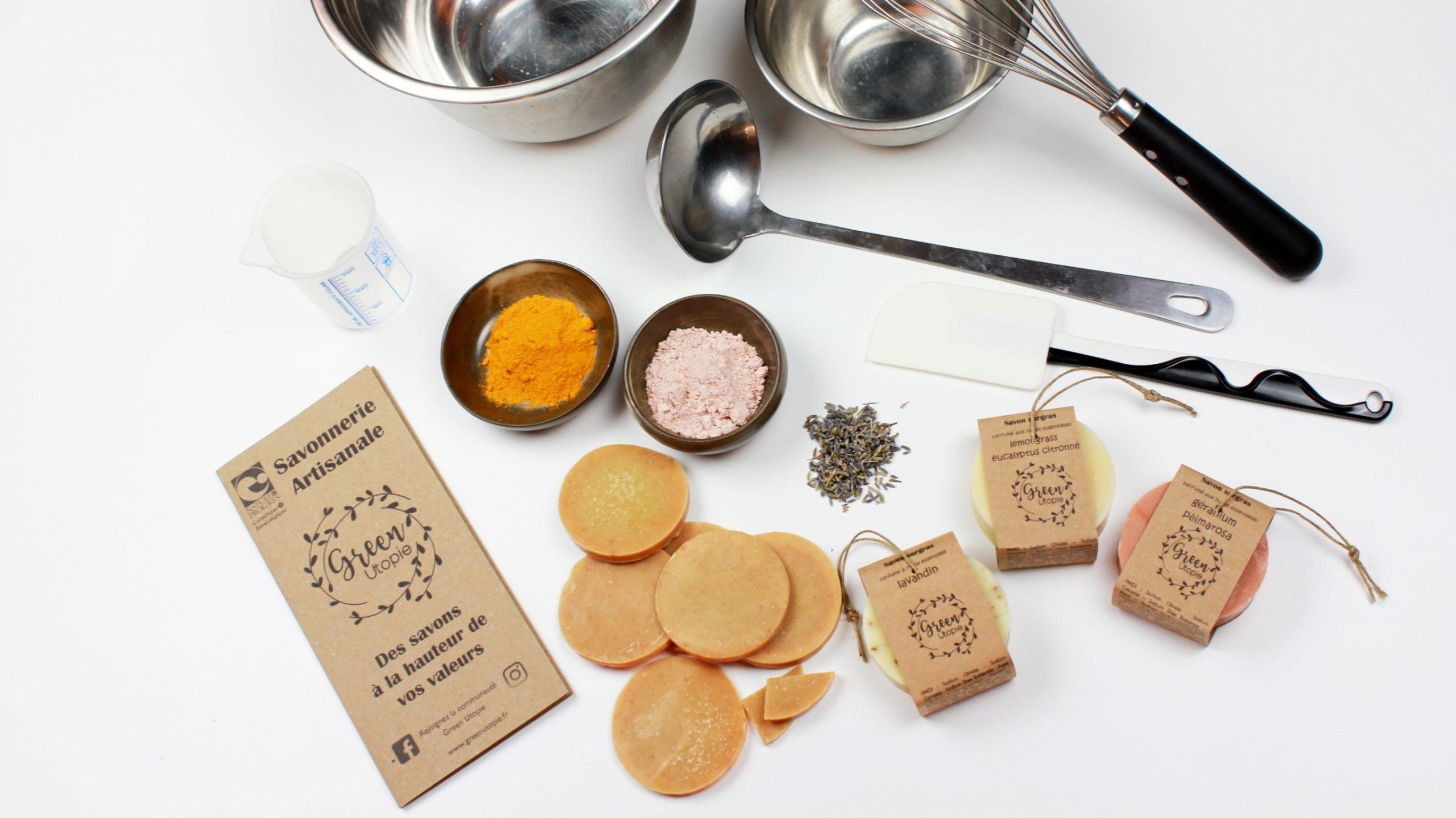 Atelier création de savon avec Green Utopie