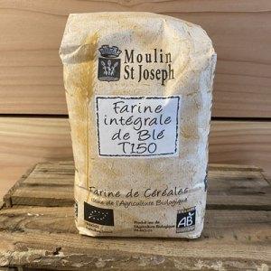 farine intégrale de blé T150 du Moulin Saint Joseph