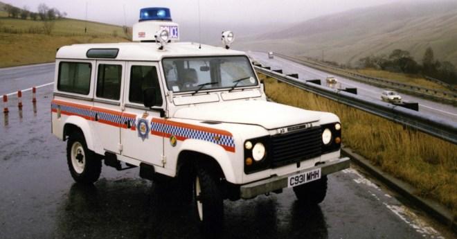 1985 Land Rover Defender Police Car