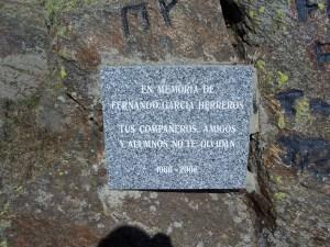 Homenaje al campeón Fernando García Herreros en la cima del Mondalindo