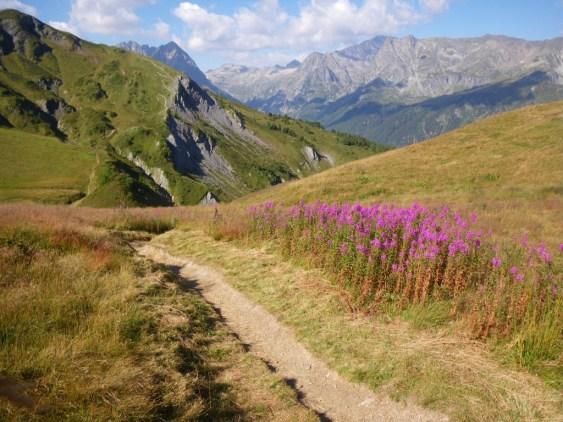 UTMB-Catogne: Inicio descenso Vallorcine.