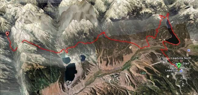 Ultra trail USA leadville 100 millas