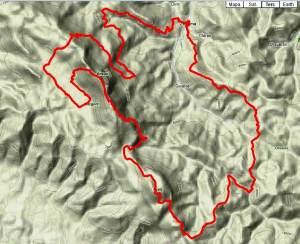 Carrera de montaña Zegama-Aizkorri 2012 Mapa de carrera