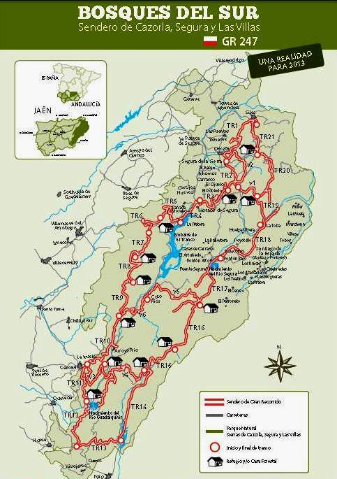 Sierra De Cazorla Y Segura Mapa.Sendero Gr247 Sierra Cazorla Segura Y Las Villas Mapa