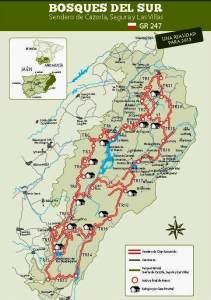 GR247 Senderos Bosques del Sur. Mapa integral.