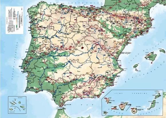 Senderos gran recorrido España Mapa completo Carrerasdemontana.com. (Clica imagen para bajarte mapa entero en pdf alta resolucion)
