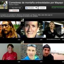 Corredores de montaña videos entrevistas por Mayayo 18mar13