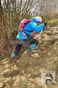 Corredores de montaña  Ana Bustamante en Trail Citadelles 2013