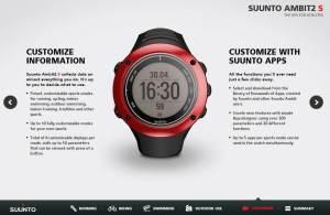 Suunto Ambit 2S: Amplias posibilidades de personalización.