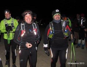 Wintertrail en la Barranca a bajocero arrando el entreno nocturno previo GTP