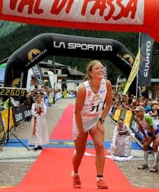 "Emelie Forsberg campeona Dolomita Skyrace 2012 foto skialper ""Copyright PHOTO ELVIS"""