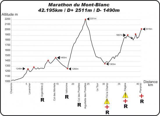 Marathon Mont Blanc 2013 perfil