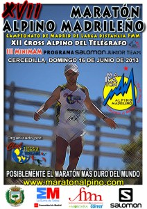 Maraton Alpino Madrileño 2013 cartel oficial