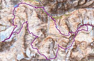 skyrunning 2013 ice trail tarentaise mapa