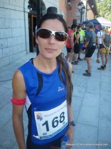 Kilometro Vertical Peñalara 2013 Vanesa Ortega esperando la salida.