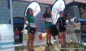 Kilometro Vertical Peñalara 2013 Podio femenino Vanesa Ortega, María Luisa García y Belén Díez