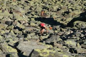 Oscar liderando la carrera en el tramo final