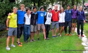 Matterhorn Ultraks: Foto de familia hoy de corredores de montaña destacados.