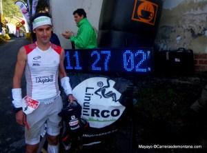 Alvaro Rodriguez. Tercero en meta Desafío Cantabria con 11h26m