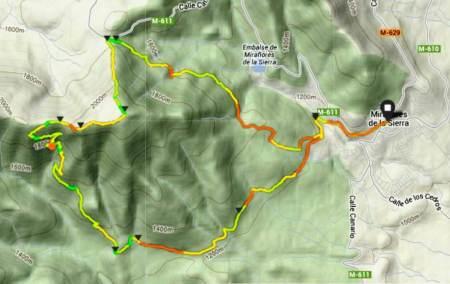 Trail running madrid la najarra miraflores mapa mayayo nivel