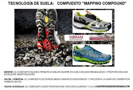 Zapatillas trail Dynafit Feline Superlight y Panthera. Detalle concepto suela Vibram.
