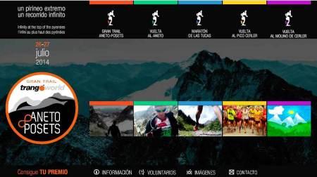 Trail Aneto 2014:  Nueva web estrenada esta semana.
