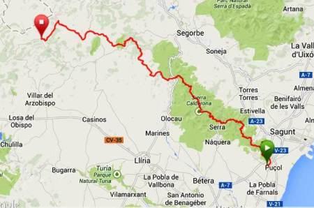 gr10 xtrem 2014 mapa recorrido