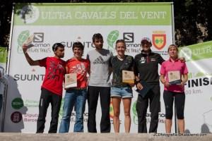Ultra Cavalls del Vent 2013: Podio masculino y femenino.