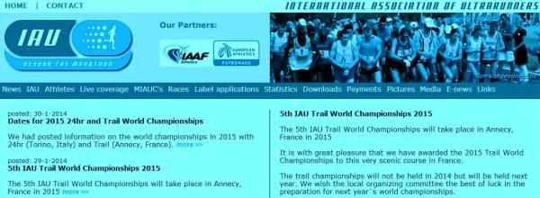 International Association of Ultra runners 2014