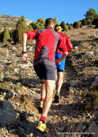 entrenamiento trail runnning CSP115k training camp subida  fotos mayayo