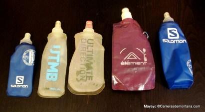 Hidratación: Botellas blandas trail running Salomon Ultimate Direction UTMB