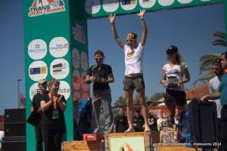Nuria Picas, campeona transgrancanaria 125k 2014. Foto Kataverno