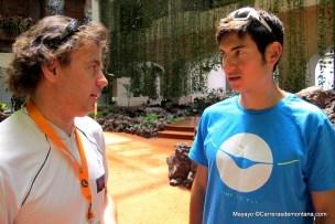 Sage Canaday entrevistado por Mayayo la víspera de Transvulcania 2014.